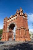 Arco do triunfo (Arco de Triomf), Barcelona, Spain Imagens de Stock Royalty Free
