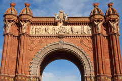 Arco do triunfo (Arco de Triomf), Barcelona, Spain Imagem de Stock Royalty Free