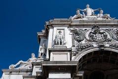 Arco do triunfo da rua de Augusta em Lisboa Imagem de Stock Royalty Free