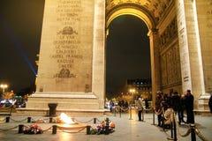 Arco do Triunfo de letoile, Champs-Elysees, Paris, França Fotos de Stock Royalty Free