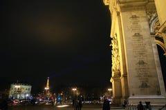Arco do Triunfo de letoile, Paris, França Imagens de Stock Royalty Free
