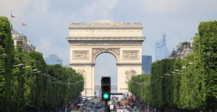 Arco do triunfo em Paris Foto de Stock Royalty Free