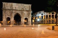 Arco e Colosseo Immagine Stock