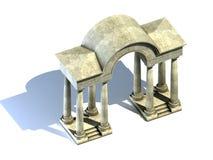 Arco e colunas. Foto de Stock