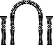 Arco e colunas da fantasia Foto de Stock Royalty Free
