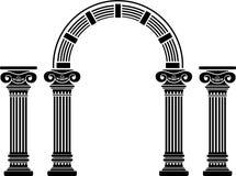 Arco e colunas da fantasia Fotografia de Stock Royalty Free