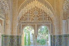 Arco e finestra arabi Fotografie Stock