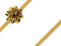 Arco e nastro dell'oro Fotografia Stock