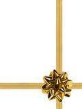 Arco e nastro dell'oro Fotografie Stock