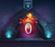 Arco ElDiablo mágico em seguida no 4o nível ilustração royalty free