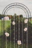 Arco elegante para la ceremonia de boda Foto de archivo
