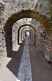 Arco en la fortaleza Liberia, Cho Villefranche-de-Conflent Fotografía de archivo