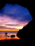 Arco en la puesta del sol Fotografía de archivo