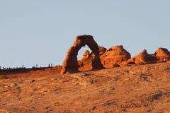 Arco en parque nacional de los arcos Imagenes de archivo