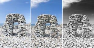 Arco en Saaremaa, Estonia de la piedra caliza Fotografía de archivo