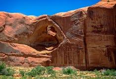 Arco en valle del monumento Imágenes de archivo libres de regalías