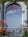 Arco fiorito romano Fotografie Stock