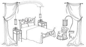 Arco forgiato del letto Immagine Stock
