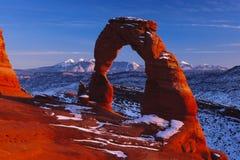 Arco fragile nell'ambito del tramonto di Mellienium Fotografia Stock Libera da Diritti