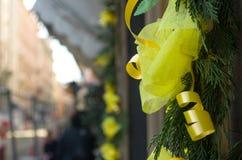 Arco giallo con sfuocatura Immagini Stock Libere da Diritti