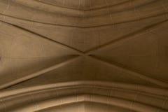 Arco gotico nella cattedrale Fotografie Stock