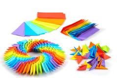 Arco iris 3d de Origami Imágenes de archivo libres de regalías