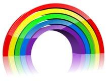 Arco iris abstracto 3D
