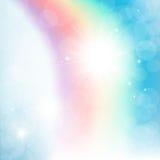 Arco iris abstracto en el cielo Fotos de archivo libres de regalías