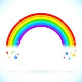 Arco iris aislados brillantes del vector con descensos del color ilustración del vector