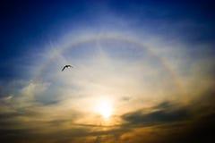 Arco iris alrededor del sol Foto de archivo libre de regalías