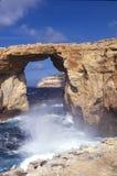 Arco iris azul de la ventana de Malta Foto de archivo libre de regalías