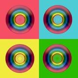 Arco iris CD de DVD Imágenes de archivo libres de regalías