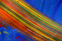 Arco iris colorido de la pintura imagenes de archivo