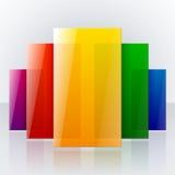 Arco iris colorido infographic abstracto brillante stock de ilustración