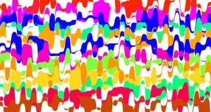 Arco iris colorido serrado rayado para el fondo, l?nea color del garabato del zigzag de la forma, l?nea onda del arte del movimie ilustración del vector