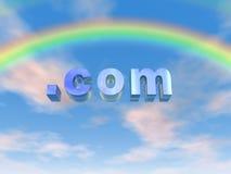 Arco iris de COM Imagenes de archivo