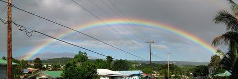 Arco iris de Hilo Mauna Kea Imágenes de archivo libres de regalías