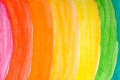 Arco iris de la acuarela Imágenes de archivo libres de regalías