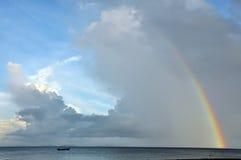 Arco iris de la bahía de la te del Lan Foto de archivo
