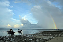 Arco iris de la bahía de la te del Lan Imágenes de archivo libres de regalías
