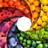 Arco iris de la fruta foto de archivo