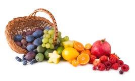 Arco iris de la fruta imágenes de archivo libres de regalías