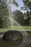 Arco iris de la fuente Imágenes de archivo libres de regalías