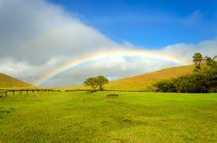 Arco iris de la isla de pascua imágenes de archivo libres de regalías