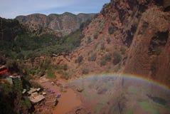 Arco iris de la montaña de atlas Fotografía de archivo libre de regalías
