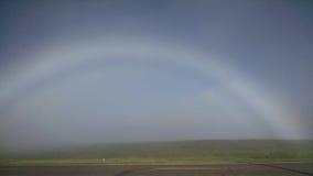 Arco iris de la niebla de la mañana Imágenes de archivo libres de regalías