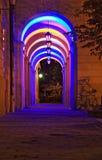 Arco iris de la noche Foto de archivo libre de regalías