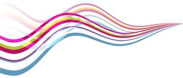 Arco iris de la onda Fotos de archivo