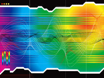 Arco iris de la perspectiva del espacio libre illustration