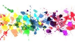 Arco iris de la pintura de la acuarela Imagen de archivo libre de regalías